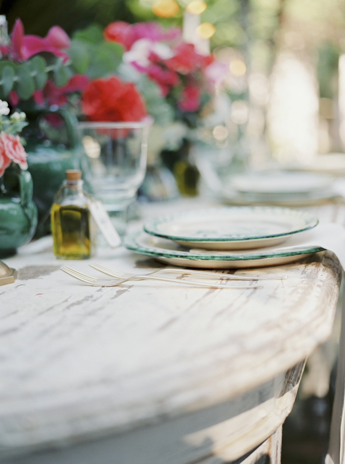 Spanish decoration wedding and food